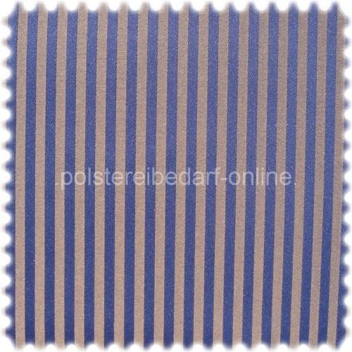 Fashion Möbelstoff Zermatt Streifen Blau-Gold