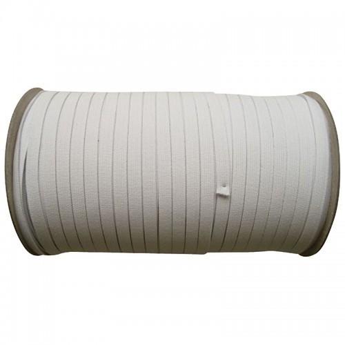 250 Meter Gummiband / Elastisches Nähband Weiss  8 mm breit Dehnung 185 %