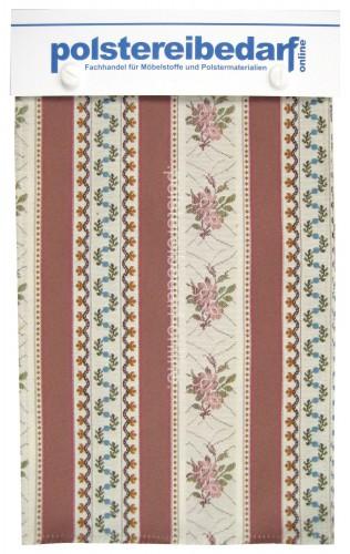 Biedermeier Streifen Damast Möbelstoff Kollektion 30x20cm mit 5 Farben
