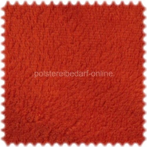 AKTION Möbelstoff Polyester Plüsch im Teddy Look Charly Terracotta