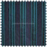 AKTION Chenille Streifen Möbelstoff King blau 001