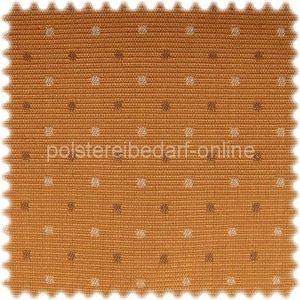 ***Auslaufware*** Möbelstoff Dortmund Apricot Punktmuster mit Teflon Fleckschutz – Bild 1