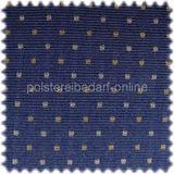 ***Auslaufware*** Möbelstoff Dortmund Blau Punktmuster mit Teflon Fleckschutz 001