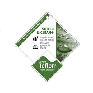 Leinen Optik Möbelstoff Klud Hellgrau mit DuPont™ Teflon® Fleckschutz – Bild 4