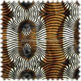 Webpelz / Tierfellimitat Tiger Natur / Cognac / Schwarz 001