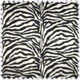 Webpelz / Tierfellimitat Zebra groß gemustert schwarz / weiss 001