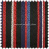 AKTION Trevira CS Flachgewebe Möbelstoff Steifen Lucera Rot / Blau / Schwarz 001