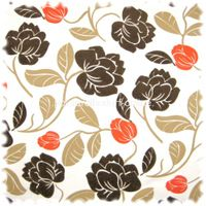 AKTION Exklusiver Möbelstoff Farbdruck 100% Leinen Arosa mit Flock Blüten
