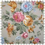 Möbelstoff Flora Eden Rose Hellgrau in Englisch Leinen Optik 001