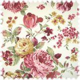 Möbelstoff Flora Pfingstrose in Englisch Leinen Optik 001