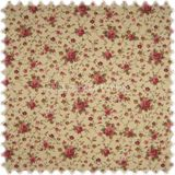 Möbelstoff Flora Little Rose Rotviolett / Sand in Englisch Leinen Optik 001