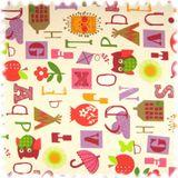 Farbdruck Möbelstoff Children Pink / Lila / Rot  001