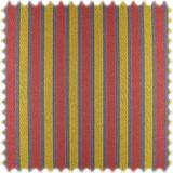 AKTION Streifen Flachgewebe Möbelstoff Gregor Bordeaux / Ockergelb / Lila mit Glanzeffekt 001