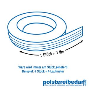 Polster Gurt Polyester Unelastisch Fest Fixiert Weiss / 8 Streifen Meterware  – Bild 2
