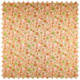 AKTION Flachgewebe Möbelstoff Kleine Blumen Lachs / Orange / Grün 001