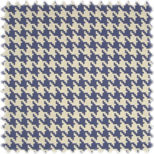 Landhaus Möbelstoff Lucca Hahnentritt Blau