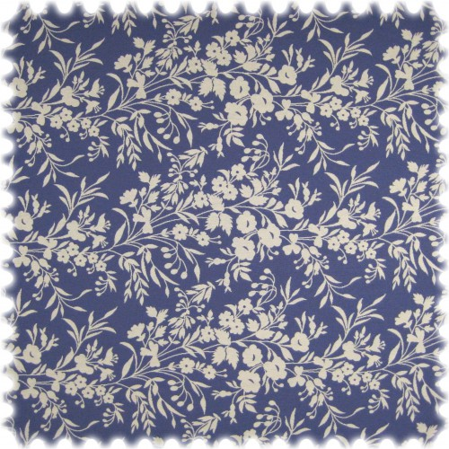 Landhaus Möbelstoff Arezzo Floral Blau