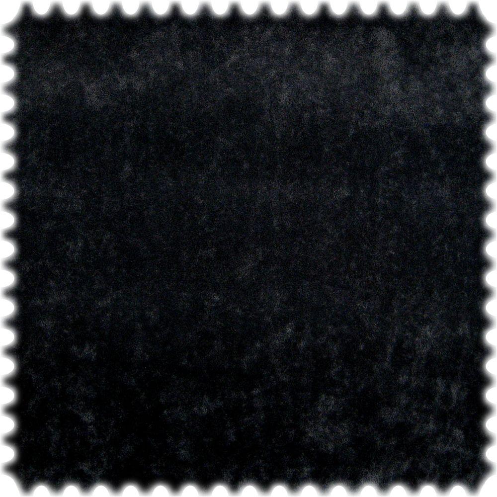 AKTION Original Microfibres® Flockvelours Möbelstoff LONGLIFE Soft Schwarz