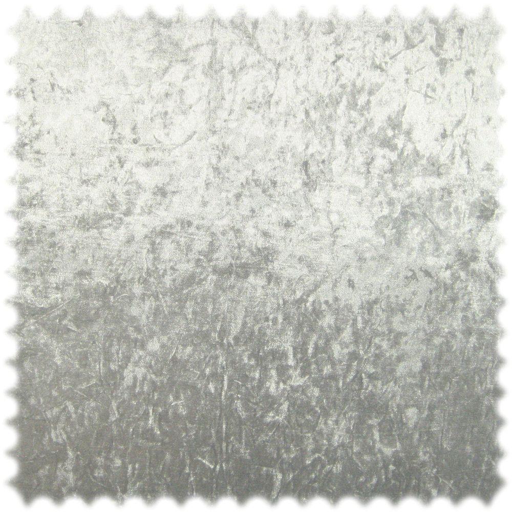 Microfaser Pannesamt Möbelstoff Ghost Silber mit Textilrücken