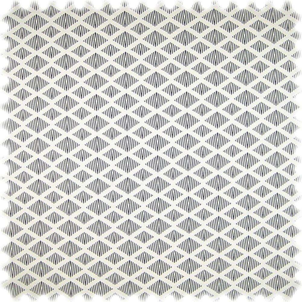 AKTION Flachgewebe Möbelstoff Pattern Modern Raute Schwarz / Weiss