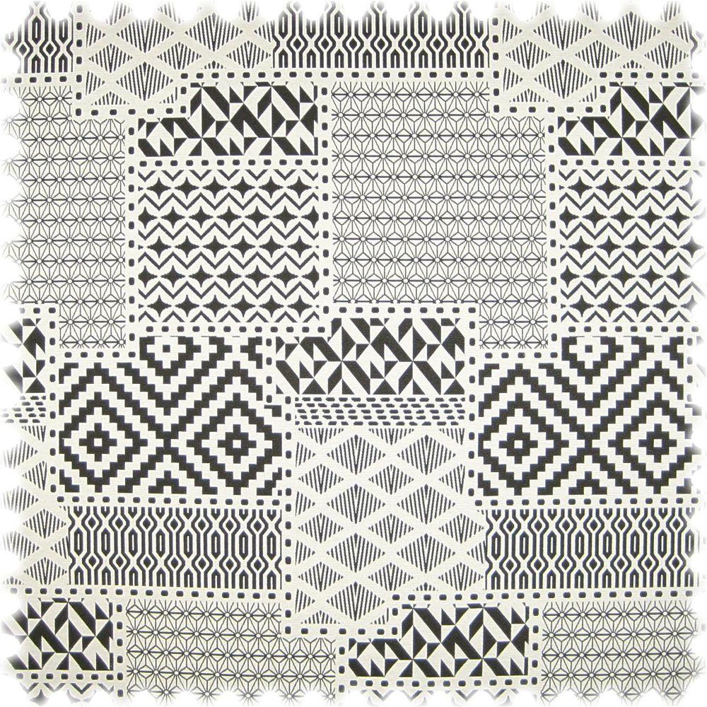 AKTION Flachgewebe Möbelstoff Pattern Modern Mixed Schwarz / Weiss