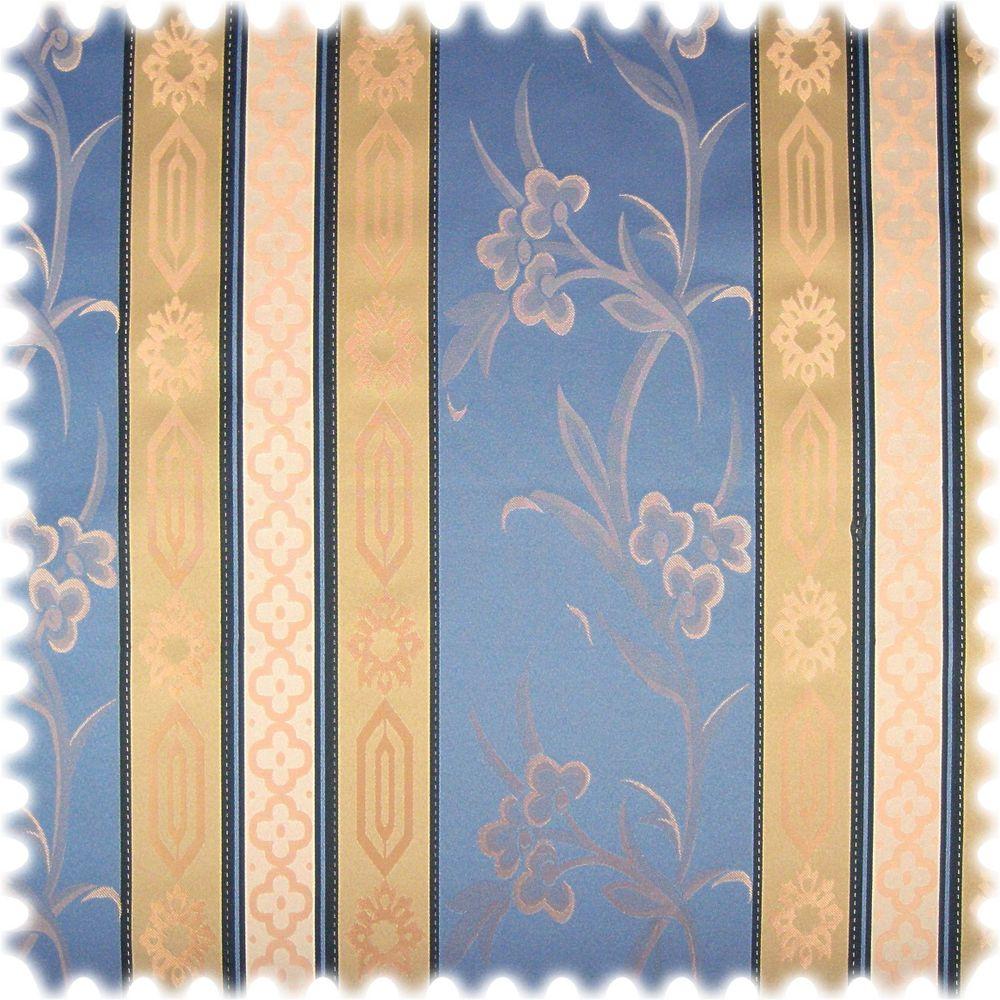 AKTION Italienischer Jaquard Stilmöbelstoff Cantanzaro Taubenblau