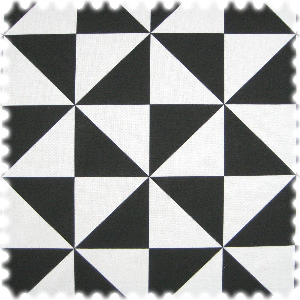 Stoff Farbdruck Dreieck Schwarz / Weiss
