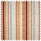 AKTION Flachgewebe Chenille Streifen Gronheim Orange / Beigerot / Bordeaux 001