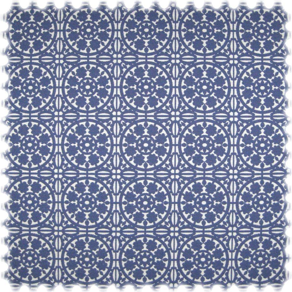 Landhaus Möbelstoff Messina Ornament Blau