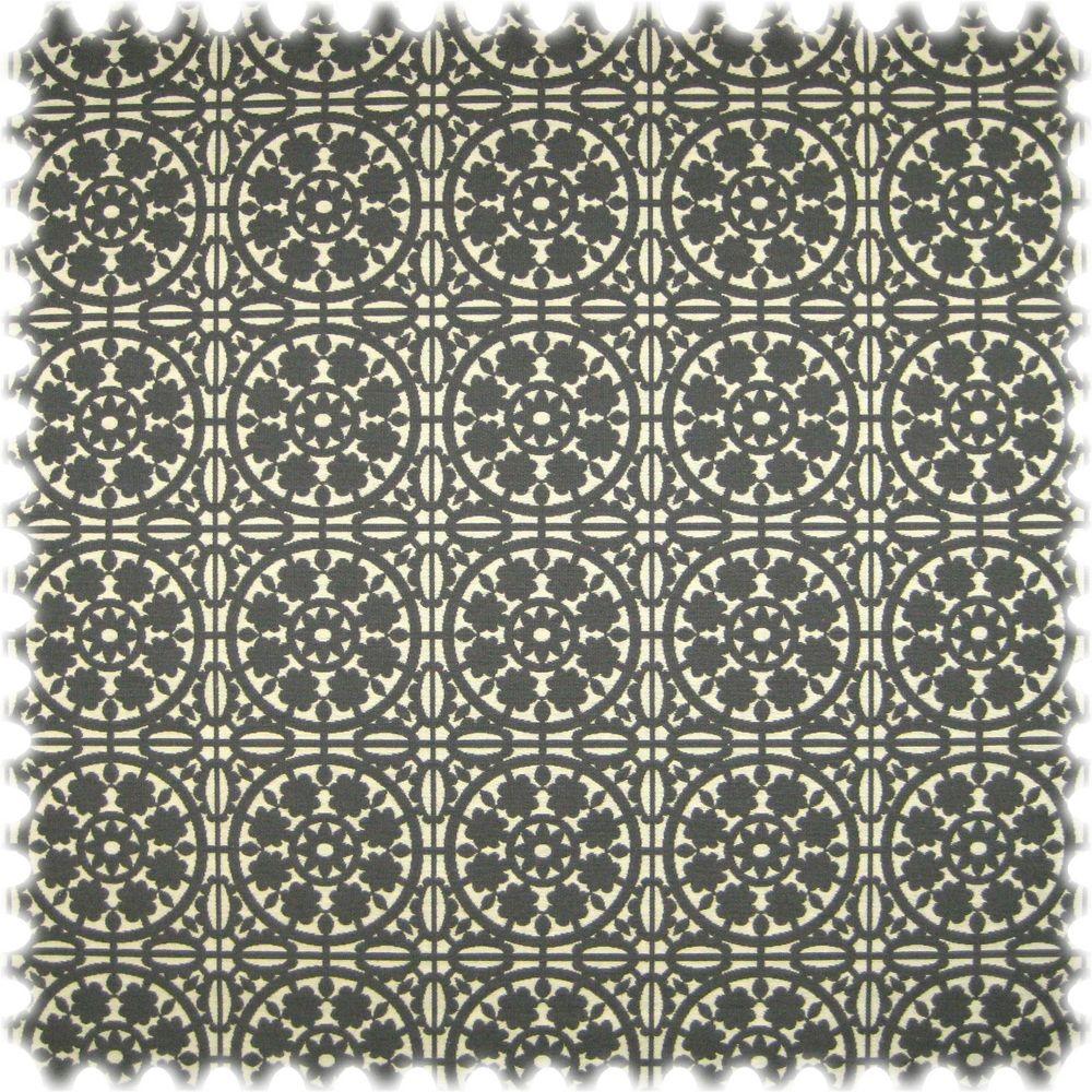 Landhaus Möbelstoff Messina Ornament Grau