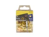 24 Ösen mit Scheiben und Werkzeug Messing 8mm rostfrei 001