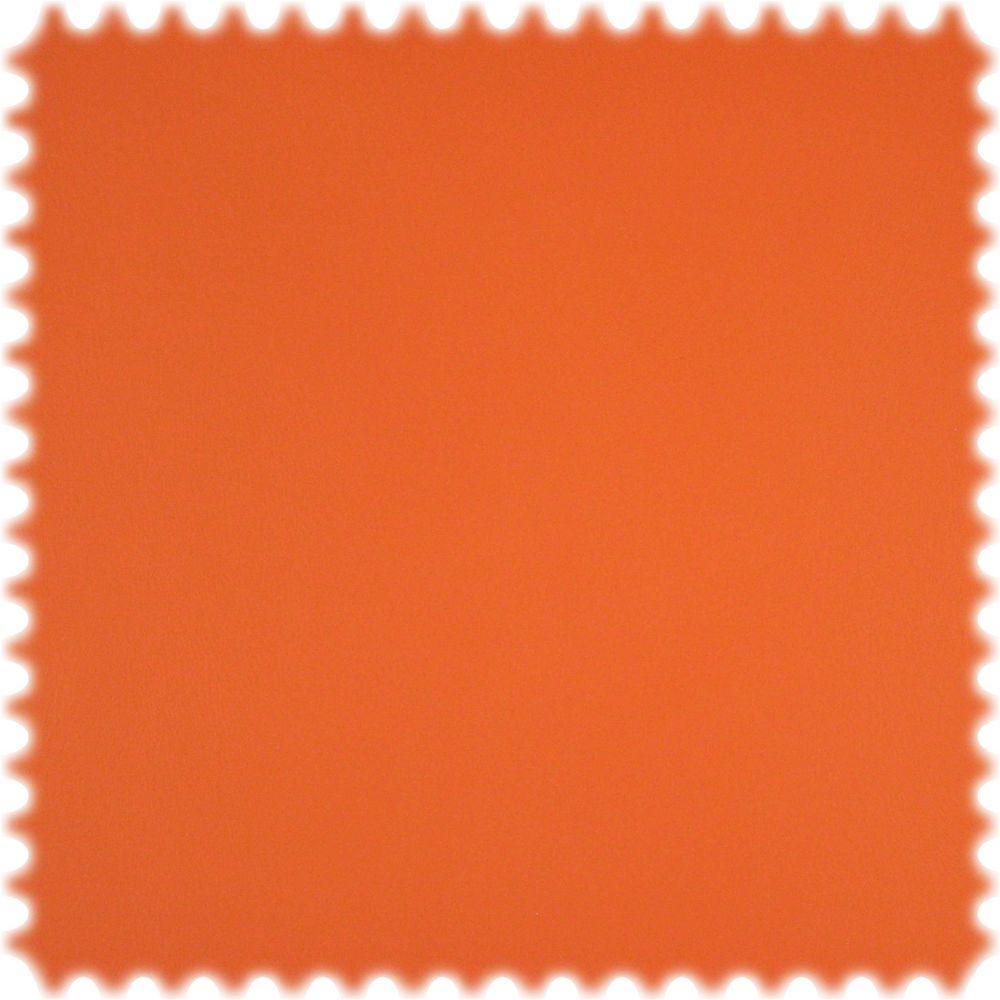 Kunstleder Ecotex Orange mit feiner Kalbsledernarbung und Fleckschutz
