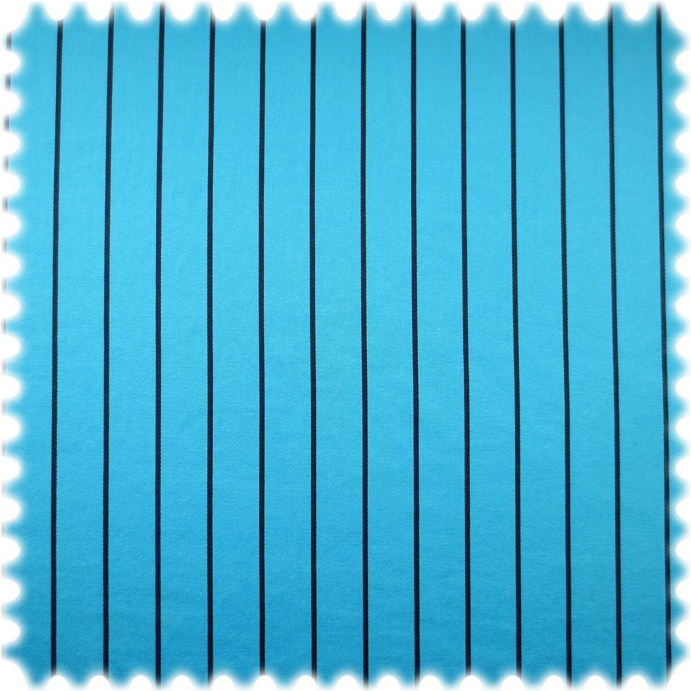 AKTION 100% Baumwolle Ferrat Hellblau mit blauen Streifen