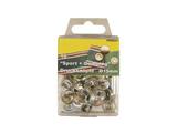 10 Druckknöpfe mit Werkzeug Silber 15mm rostfrei 001